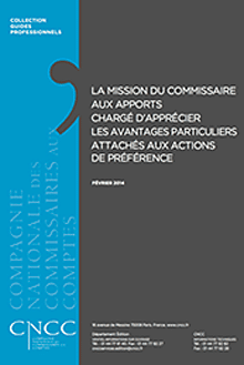 Ouvrage : La missions du commissaires aux apports co-rédigé par Antoine Legoux