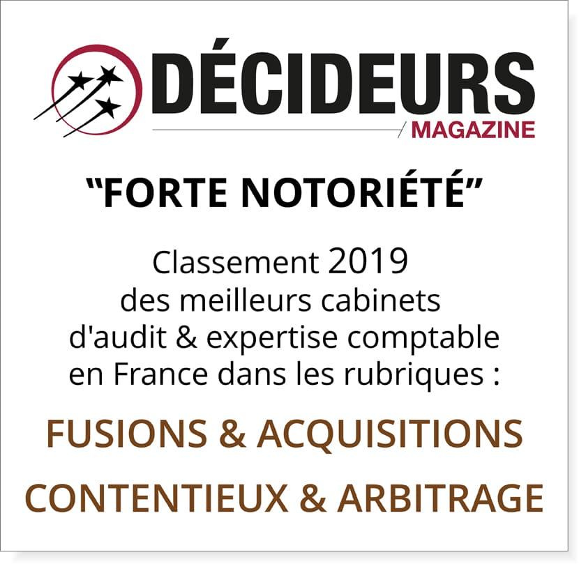 DÉCIDEURS Magazine – Classements annuels